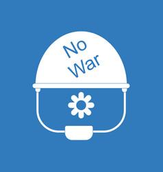 Icon no war military helmet vector