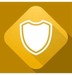 icon of Shield with a long shadow vector image