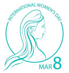 International women day sign symbol logo on white vector