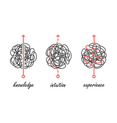 Knowledge intuition experience icons vector