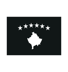Kosovo Flag monochrome on white background vector image vector image