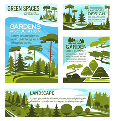 Landscaping park and square design company vector