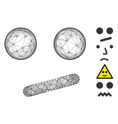 Linear indifferent smile mesh vector