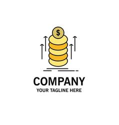 money bundle transfer coins business logo vector image