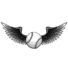 monochromatic baseball ball vector image