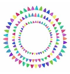 Multicolored bright flag composition Watercolor vector