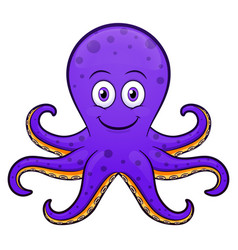 octopus cartoon purple design vector image