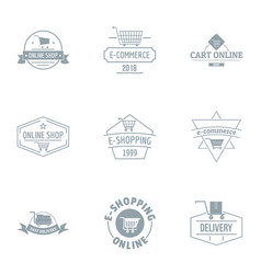 online free logo set simple style vector image