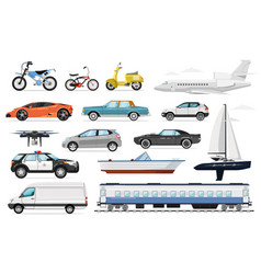 passenger transport set vector image