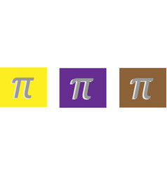 pi icon isolated on background vector image