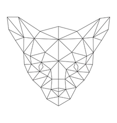Polygonal cat silhouette vector