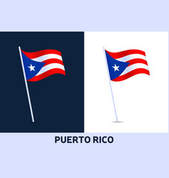 puerto rico flag waving national flag italy vector image