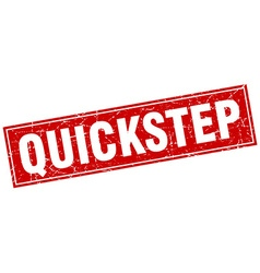 Quickstep red square grunge stamp on white vector