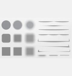 realistic shadows dividers line shadow vector image