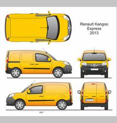 Renault kangoo express cargo van 2013 vector