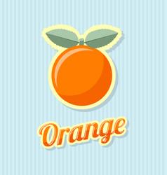 Retro orange vector
