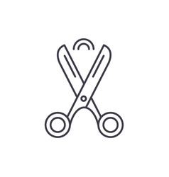 scissors line icon concept scissors linear vector image