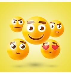 Set emoticons set emoji smile icons vector