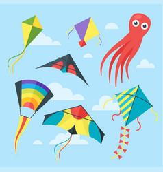 set of kites vector image