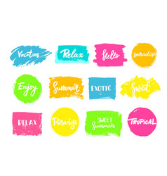 Set of summer colorful universal use circles vector