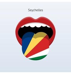 Seychelles language Abstract human tongue vector image