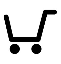 shopping cart solid icon market cart vector image