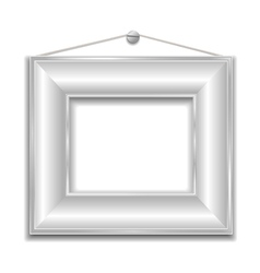 Silver white frame vector