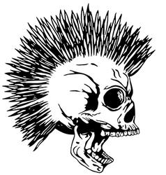 Skull punk2 vector