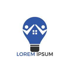 smart house logo template vector image