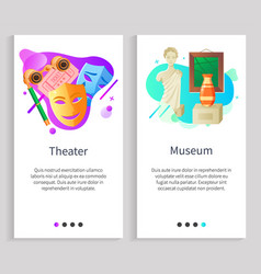 Theater and museum cultural art centers vector