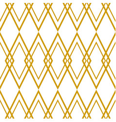 Tile pattern with golden plaid on white background vector
