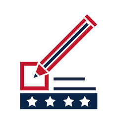 united states elections pencil marker list ballot vector image