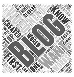 Video Blogging And Visitor Interaction Word Cloud vector