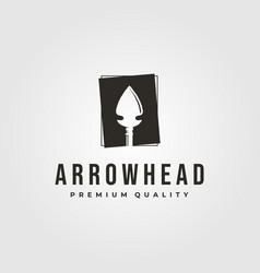 Vintage arrowhead logo native america symbol vector