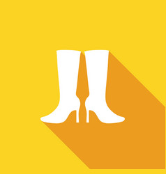 women boots icon with a long shadow vector image