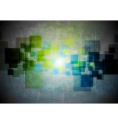 Abstract grunge hi-tech design vector image vector image