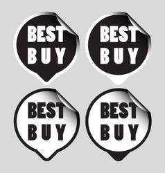 Best buy stickers vector image