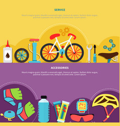 Bicycle banners set vector