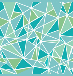 blue green geometric mosaic triangles vector image