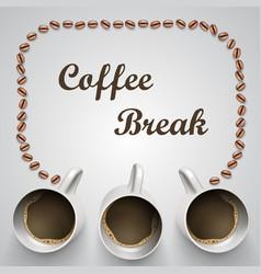 coffee mug with message vector image