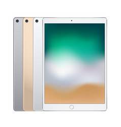 electronic tablets of different colors silver vector image vector image
