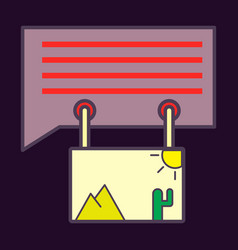 Flat email attachment icon paper document clip vector