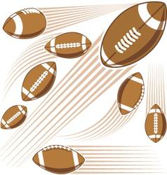 Flying american football ball vector image vector image