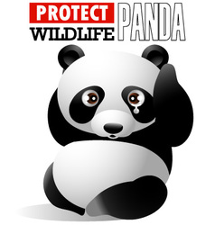 protect wildlife - panda vector image vector image