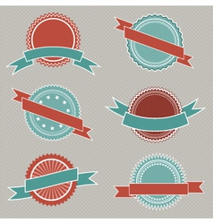 retro styled badges vector image vector image