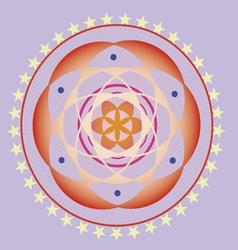 spring life flower seed mandala vector image