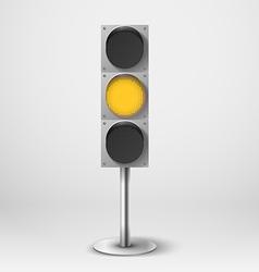 Traffic light Yellow diod traffic light Te vector image vector image
