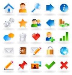 web community icons vector image