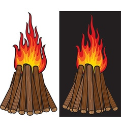 Bonfire Icon Set vector image vector image