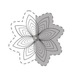 flower garden decoration cut line vector image